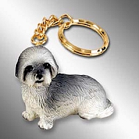 Lhasa Apso Gray w/Sport Cut Key Chain