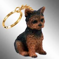 Yorkshire Terrier Puppy Cut Key Chain