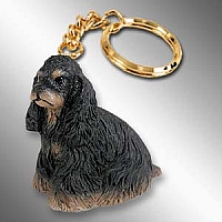 Cocker Spaniel Black & Tan Key Chain