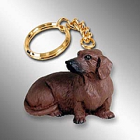 Dachshund Red Key Chain
