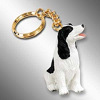 Springer Spaniel Black & White Key Chain