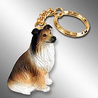 Collie Sable Key Chain