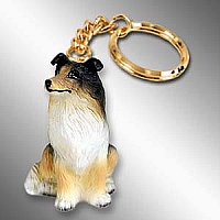Collie Tricolor Key Chain