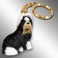 Shih Tzu Black & White Key Chain