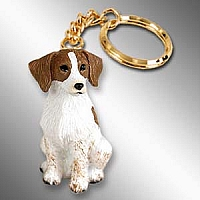 Brittany Brown & White Spaniel Key Chain