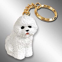 Bichon Frise Key Chain