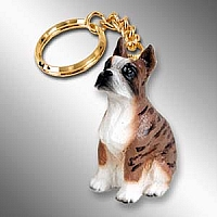 Boxer Brindle Key Chain