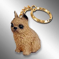 Brussels Griffon Red Key Chain