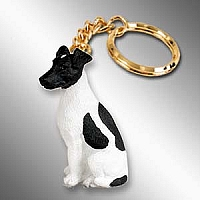 Fox Terrier Black & White Key Chain