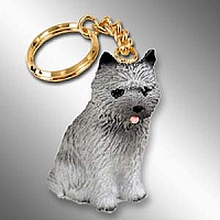 Cairn Terrier Gray Key Chain