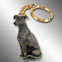Greyhound Brindle Key Chain