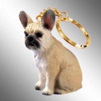 French Bulldog Fawn Key Chain