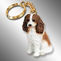 Cavalier King Charles Spaniel Brown & White Key Chain