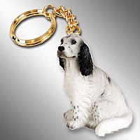 English Setter Belton Blue Key Chain