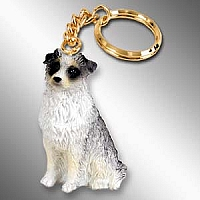 Australian Shepherd Blue Key Chain