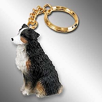 Australian Shepherd Tricolor w/Docked Tail Key Chain