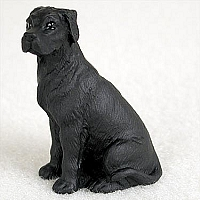 Great Dane Black w/Uncropped Ears Tiny One Figurine
