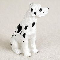 Great Dane Harlequin w/Uncropped Ears Tiny One Figurine