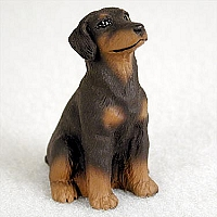 Doberman Pinscher Red w/Uncropped Ears Tiny One Figurine