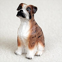 Boxer Brindle w/Uncropped Ears Tiny One Figurine