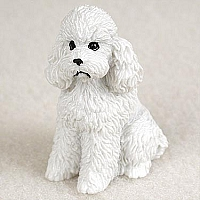 Poodle White w/Sport Cut Tiny One Figurine