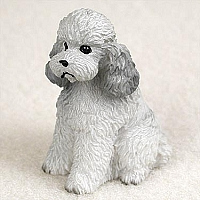 Poodle Gray w/Sport Cut Tiny One Figurine