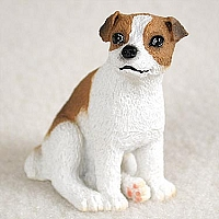 Jack Russell Terrier Black & White w/Smooth Coat Tiny One Figurine