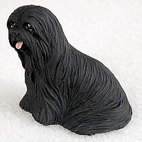 Lhasa Apso Black Tiny One Figurine