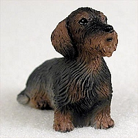 Wire Haired Dachshund Red Tiny One Figurine