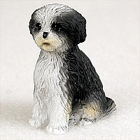 Shih Tzu Black & White w/Sport Cut Tiny One Figurine