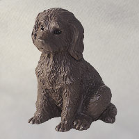 Labradoodle Chocolate Tiny One Figurine
