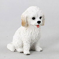 Cockapoo White Tiny One Figurine