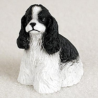 Cocker Spaniel Black & White Tiny One Figurine