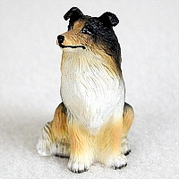 Collie Tricolor Tiny One Figurine
