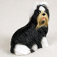 Shih Tzu Black & White Tiny One Figurine