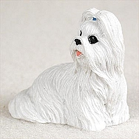 Shih Tzu White Tiny One Figurine