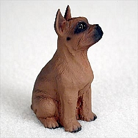 Boxer Tawny Tiny One Figurine