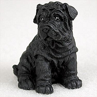 Shar Pei Black Tiny One Figurine