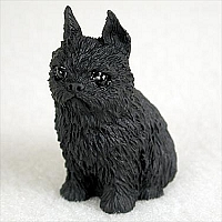 Brussels Griffon Black Tiny One Figurine