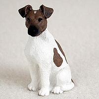 Fox Terrier Brown & White Tiny One Figurine