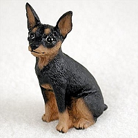 Miniature Pinscher Tan & Black Tiny One Figurine