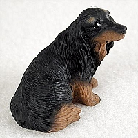 Dachshund Longhaired Black Tiny One Figurine