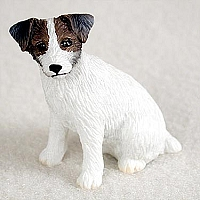 Jack Russell Terrier Brown & White w/Rough Coat Tiny One Figurine
