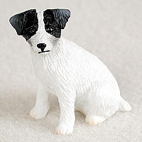 Jack Russell Terrier Black & White w/Rough Coat Tiny One Figurine