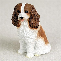 Cavalier King Charles Spaniel Brown & White Tiny One Figurine