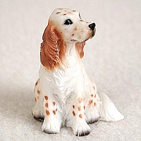 English Setter Belton Orange Tiny One Figurine