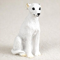 Whippet White Tiny One Figurine