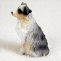 Australian Shepherd Blue w/Docked Tail Tiny One Figurine