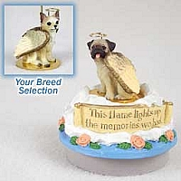 Chihuahua Tan & White Candle Topper Tiny One Pet Angel Ornament