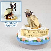Chihuahua Brindle & White Candle Topper Tiny One Pet Angel Ornament